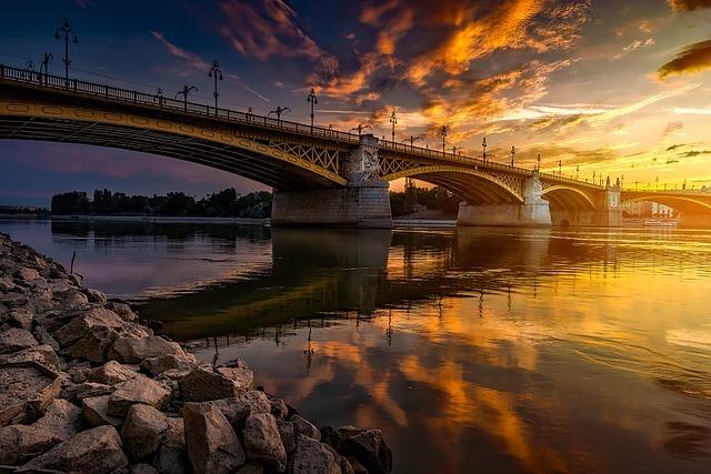 Danube au coucher du soleil