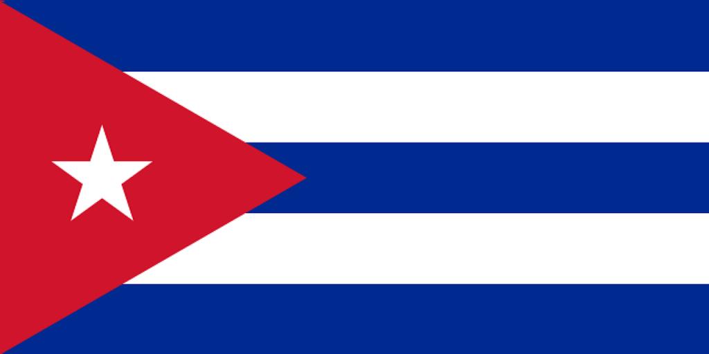 Drapeau de Cuba, un pays en C