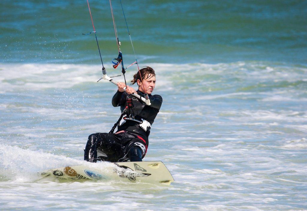 Séance de kit surfing